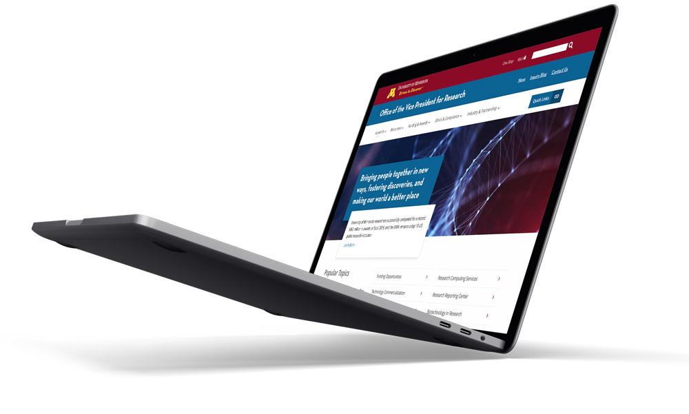 Laptop website example